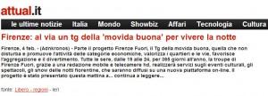 Firenze Fuori articolo su attual.it: Al via il tg della movida buona