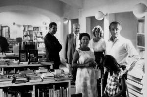 Visita di Centro Di della principessa Margaret e Harold Acton