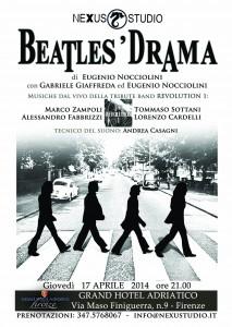 Eventi a Firenze: Firenze Fuori allo spettacolo BEATLES' DRAMA di Nexus Studio al Grand Hotel Adriatico