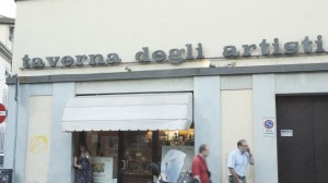 La Taverna degli Artisti in via degli Artisti a Firenze