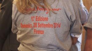 La maglietta di Corri la vita 2014 di Salvatore Ferragamo