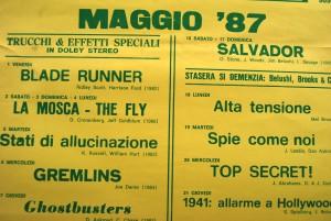 Storica locandina de L'Universale di Firenze Maggio 1987