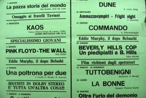 Locandina del cinema L'Universale storica sala fiorentina