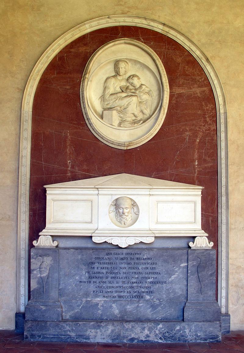 Primo_chiostro,_monumento_a_girolamo_segato_da_belluno,_della_scuola_di_Lorenzo_Bartolini